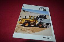 Volvo L70E Wheel Loader Dealer's Brochure DCPA6