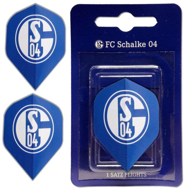 Dart Flights FC Schalke 04 3er Set Flight Set Signet 3 Dartflights Darts S04