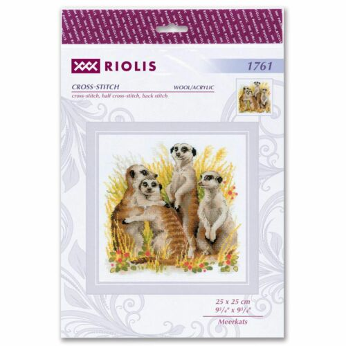 RIOLIS  1761  Suricates  Kit  Broderie  Point de Croix compté