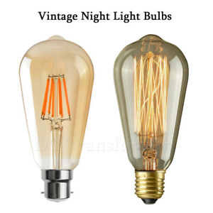 Details About St64 Best Led Incandescent Antique Vintage E27 B22 Home Use Night Light Bulbs Uk