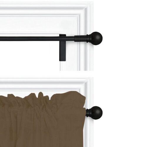 "ROOM ESSENTIALS 2pk Curtain Panel Rod28/"" x 48/""Matte Black"