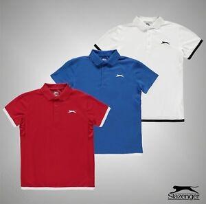 Junior-Boys-marque-SLAZENGER-Leger-Court-Polo-Shirt-Top-Taille-7-13-Ans