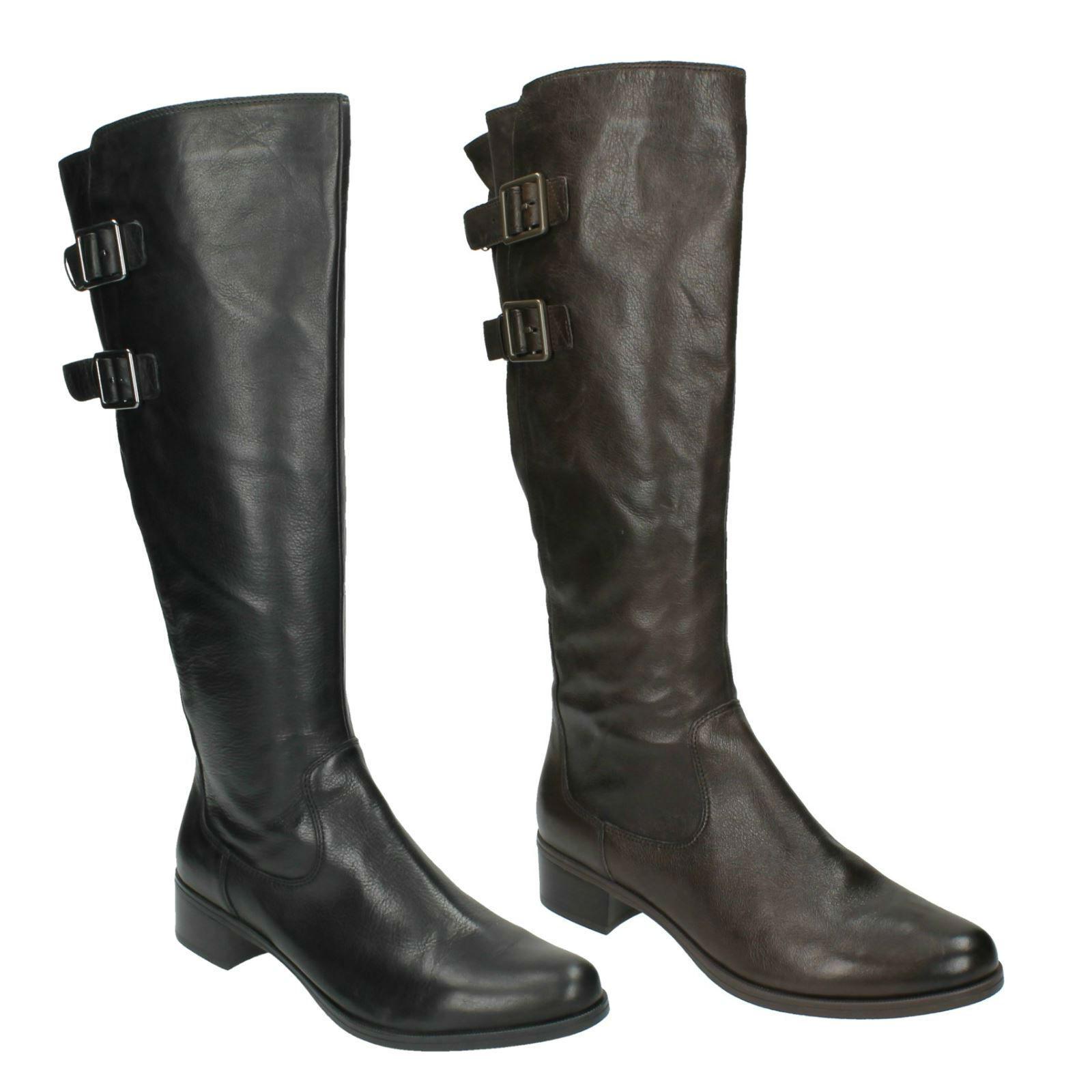 Sympathique me femmes clarks en cuir fermeture éclair boucle bottes bottes bottes cavalières hautes | En Ligne  9a4a0e