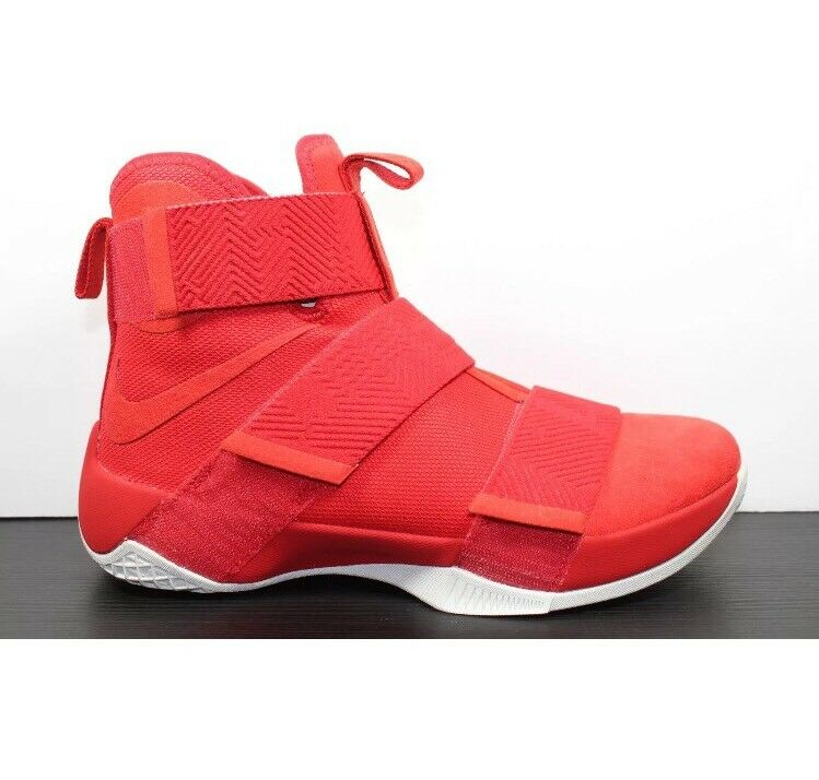 98a19ef955 UNRELEASED Nike LeBron Soldier 10 SFG Lux University Red 911306-600 James  Sz 14