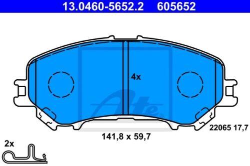 ATE Bremsbelagsatz Scheibenbremse 13.0460-5652.2 für NISSAN QASHQAI J11 vorne 2