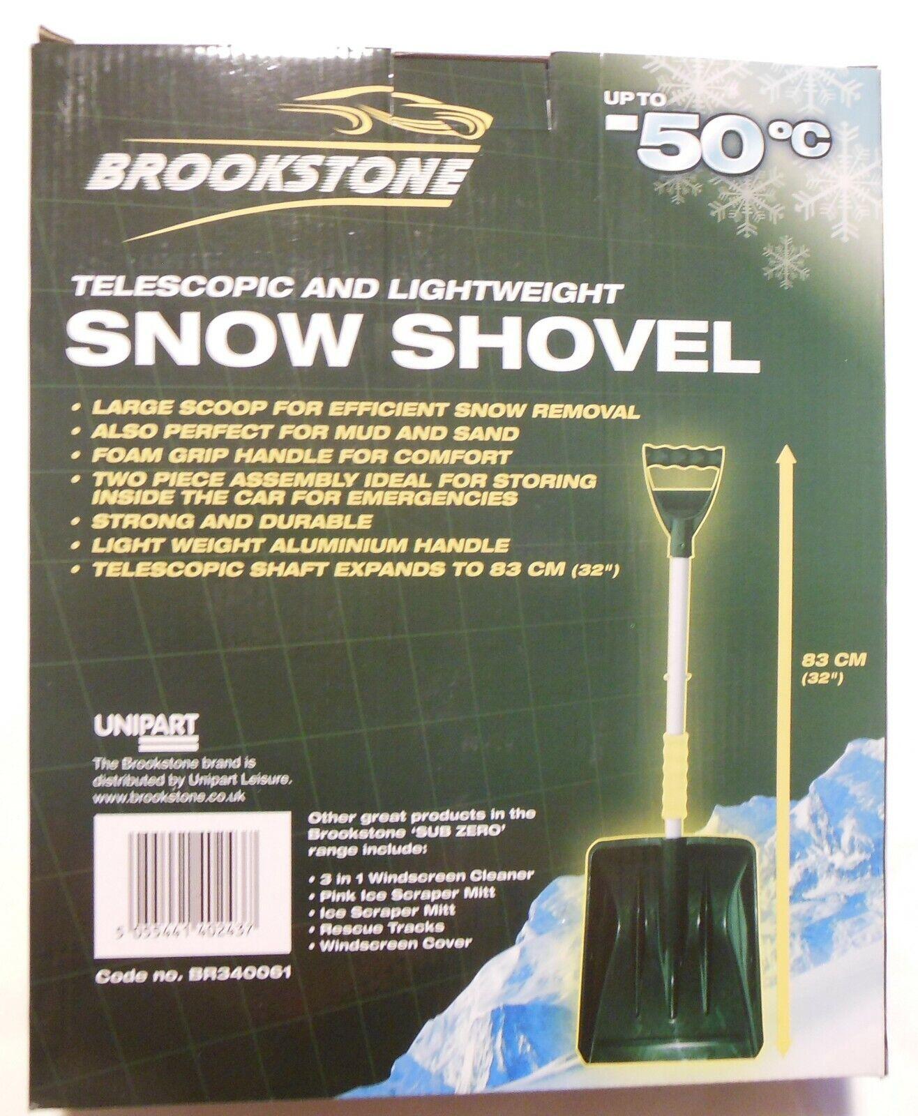 BROOKSTONE SNOW SHOVEL lightweight spade travel motorhome car caravan home