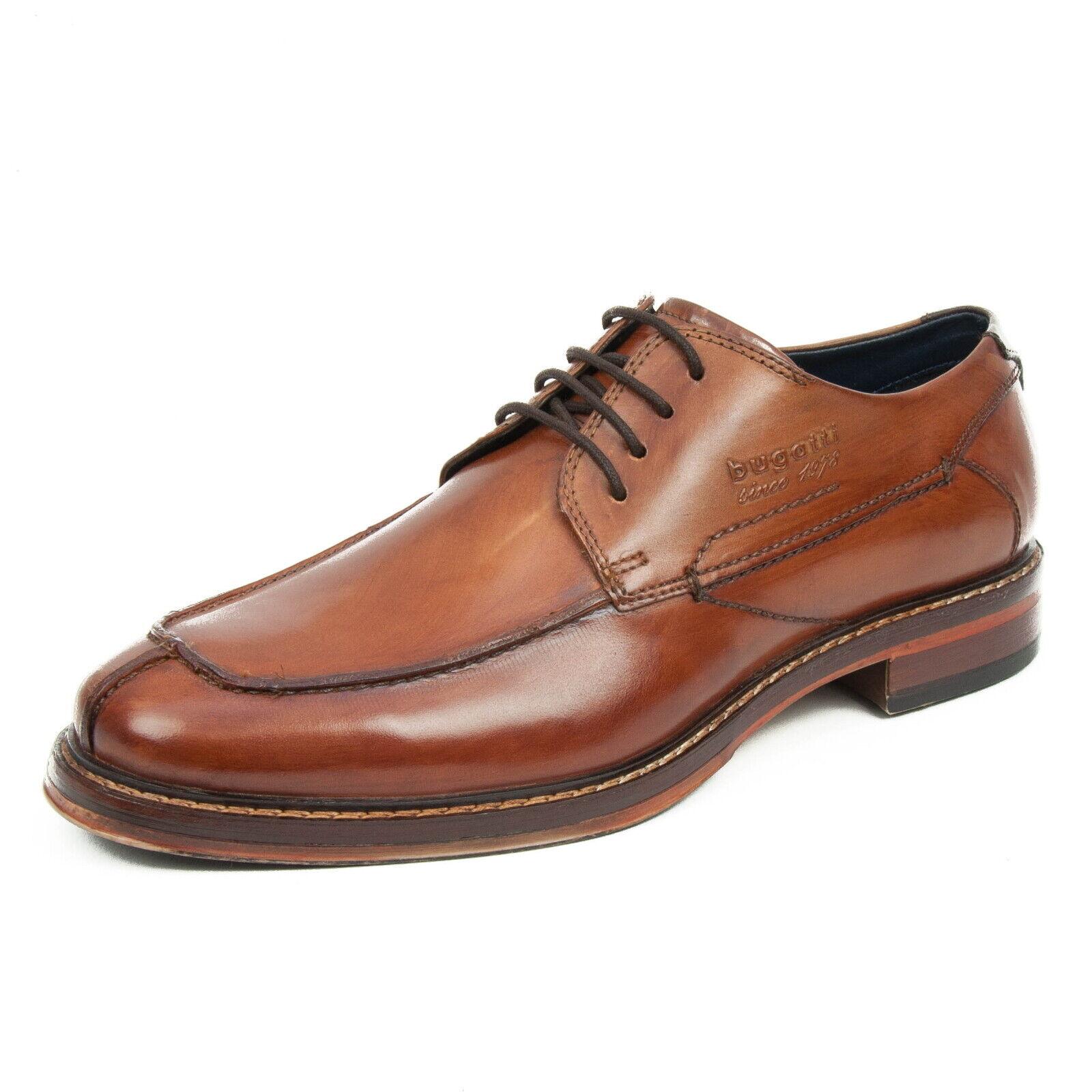 Bugatti caballero zapatos cuero Business zapato bajo cognac 311-37603-1100-6300