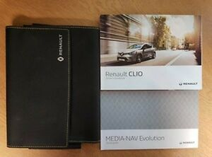 Details about 1 RENAULT CLIO OWNERS MANUAL HANDBOOK WALLET SERVICE BOOK  2012-19 PACK MEDIA NAV