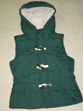 Abercrombie Kaela Puffer Sherpa Vest for Women Dark Green Sz XS - NWT $140