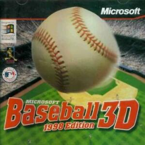 MS Baseball 3D 1998 PC CD major league MLB players sports batting pitching game!