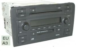 8p0035195 original audi a3 8p radio de voiture symphony radio cd chargeur cd ebay. Black Bedroom Furniture Sets. Home Design Ideas