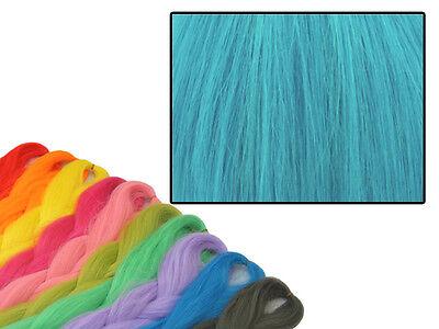 CYBERLOXSHOP PHANTASIA KANEKALON JUMBO BRAID TURQUOISE BLUE HAIR DREADS