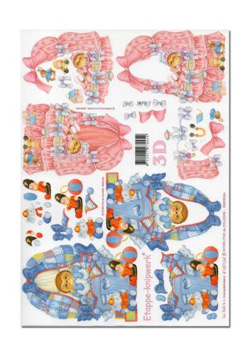 3D Bogen Motivbogen Etappenbogen Bastelbogen Babywiege Wiege Igel 005