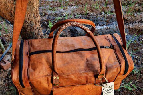 Reisetasche 60cm Weekender Style Retro Neu Sporttasche Handgepäck Vintage Leder C56x1w1A