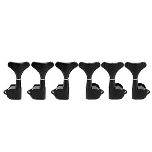 3l3r 6 string electric bass guitar tuning pegs keys machine heads tuners black 634458825108 ebay. Black Bedroom Furniture Sets. Home Design Ideas