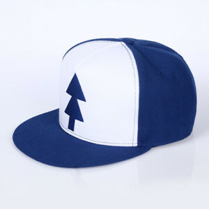 5b618951926 Cool Gravity Falls Baseball Cap BLUE PINE TREE Hat Cartoon Hip hop ...