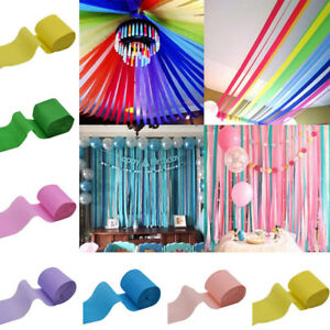9m Crepe Paper Streamer Roll Wedding Birthday Party Supplies Hanging