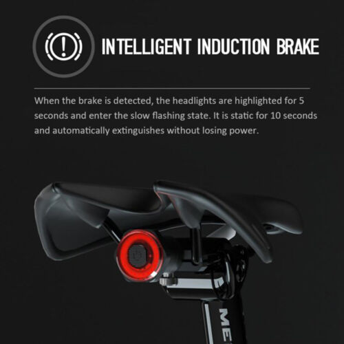 MEROCA USB Rechargeable Rear Light Lamp MTB Bike LED Saddle//Seatpost  Lights