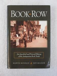 Marvin Mondlin & Roy Meador BOOK ROW Carroll & Graf 2004 2nd Printing