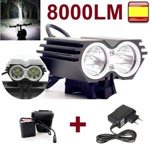 Linterna-para-bicicleta-foco-luz-recargable-de-8000LM-2-x-CREE-XM-L-U2-led