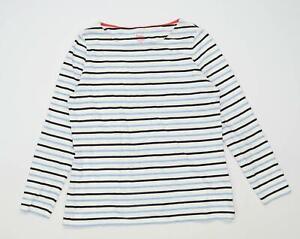 Boden-Womens-Size-16-Striped-Cotton-Blue-Long-Sleeve-T-Shirt-Regular