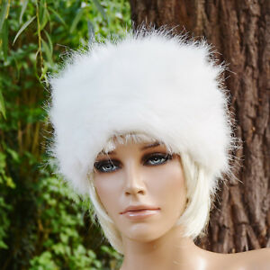 addcef25e85bf Chapka bonnet chapeau Femme fausse fourrure blanche DARINA ZAZA2CATS ...