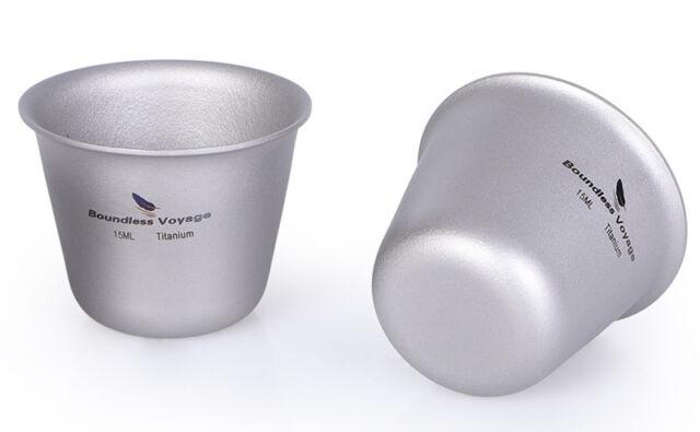 Titanium Mini Cup Wine Tea Sake Mug Camping Picnic Party Whiskey Flask Drinkware