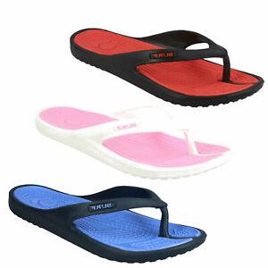Donna Spot On Estivo Casual Infradito Piatto Pantofole da Infilare Sandali Surf