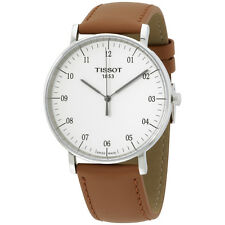 Tissot T-Classic White Dial Leather Strap Men's Watch T1096101603700