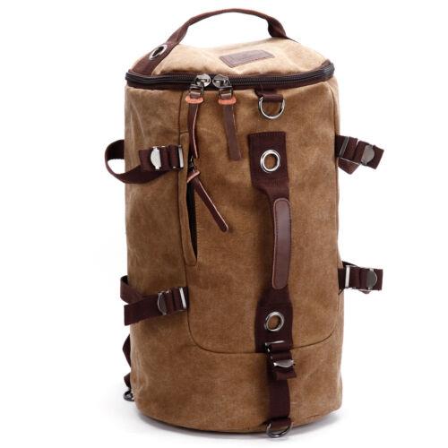 Mens Canvas Backpack Large Rucksack School Bag Travel Camping Bag Duffle Gym Bag
