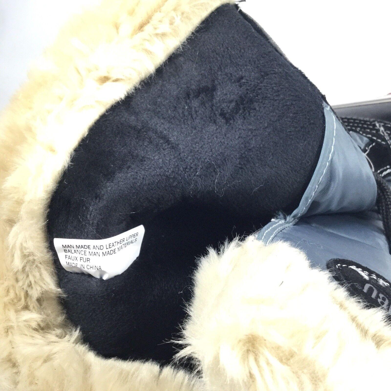 Khombu Melanie Womens Sise 6 M M M Black  Grey Lace Up Winter Boots 517cc4