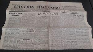 Journal Nationalistische L Aktion Französischem 26 Aout 1934 Nr. 238 ABE