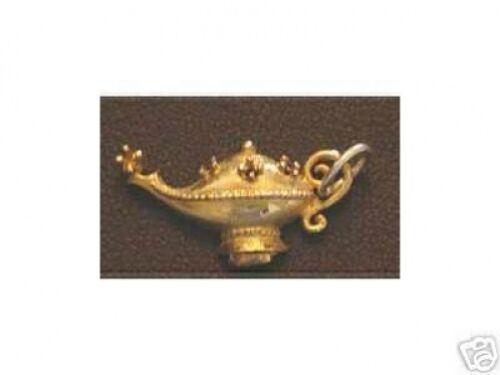 Cool Plaqué Or lampe magique Genie Pendentif Charme Celtique