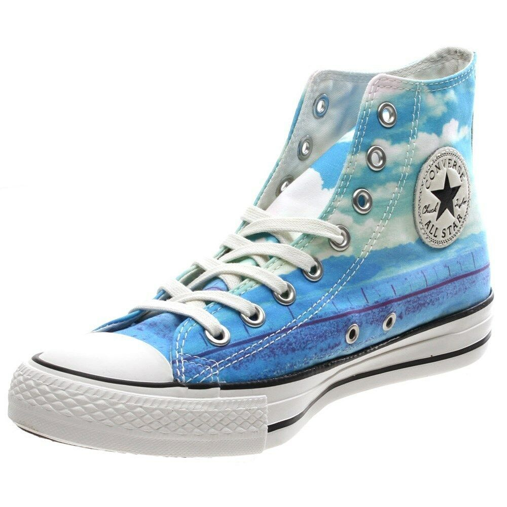 CONVERSE CHUCK TAYLOR ALL BLUE STAR HI SPRAY PAINT BLUE ALL Scarpe Sneakers 551007C 234473