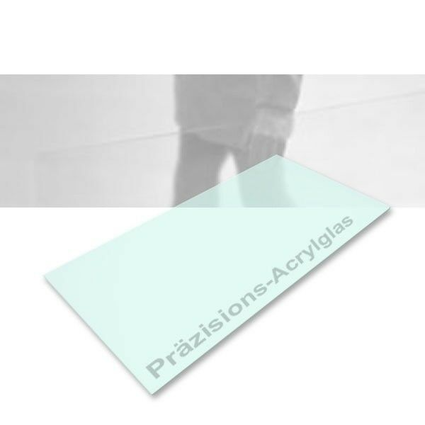 Präzisions-Acrylglas transparent glasgreen 495 x 1000 x 1,0 mm, laserfähig
