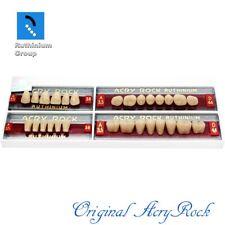4pcs Set Acrylic Dental Lab Teeth Ruthinium Acryrock Teeth A35 Size 38 Mouth