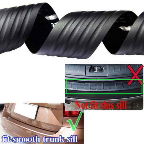 Universal Black Car Rear Bumper Protector Plate Rubber Cover Protector Trim Pad