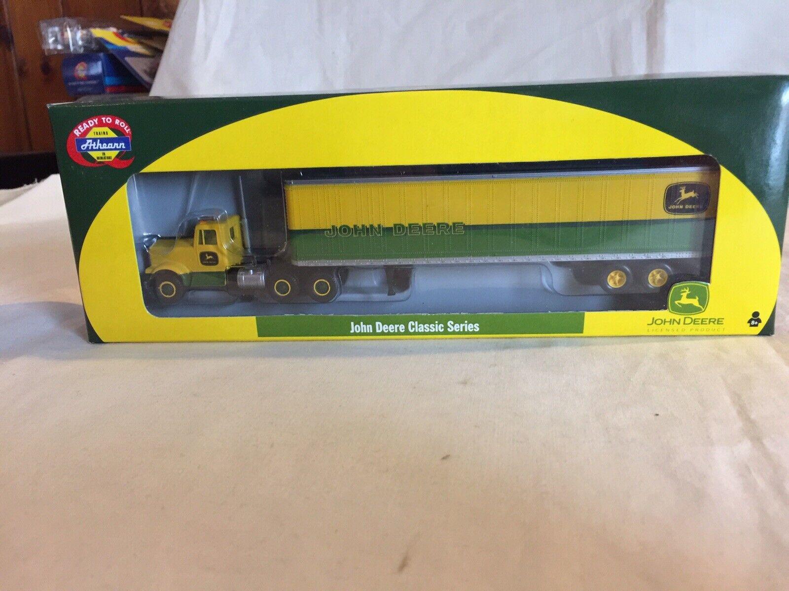 Athearn Ho 1 87 John Deere Kenworth camión 45' Remolque 8192 verde y amarillo