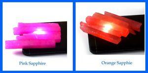 US Seller Pink & Orange Sapphire Gemstone Slice Rough 600 Ct 10 Pcs Lot Natural