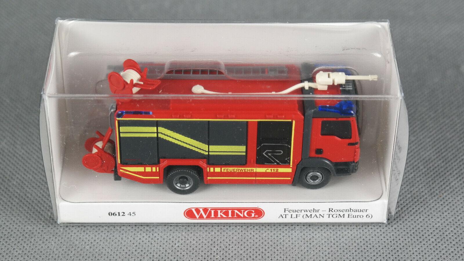 Wiking H0 1:87 MAN TGF Feuerwehr LF 10//6 rot 0614 02 38 NEU NOS OVP