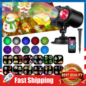 2 In 1 Christmas Halloween Holiday LED Laser Light Projector House Spotlight