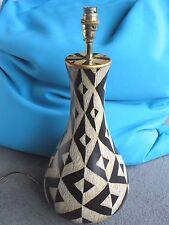 Large geometric design pottery lamp base