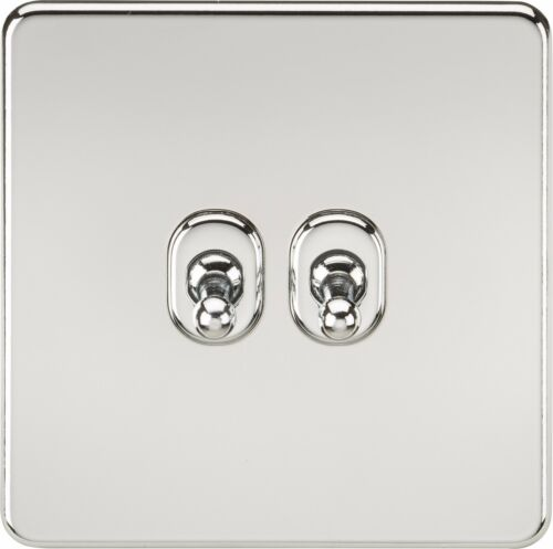 Business Office Industrial Sockets Knightsbridge Screwless 10a 10 Amp 2g 2 Gang 2 Way Toggle Light Switch Plate Bortexgroup Com