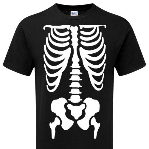 Halloween Ribcage Skeleton Chest  Xray Bones Ribs Party Costume Ladies man/'t Top