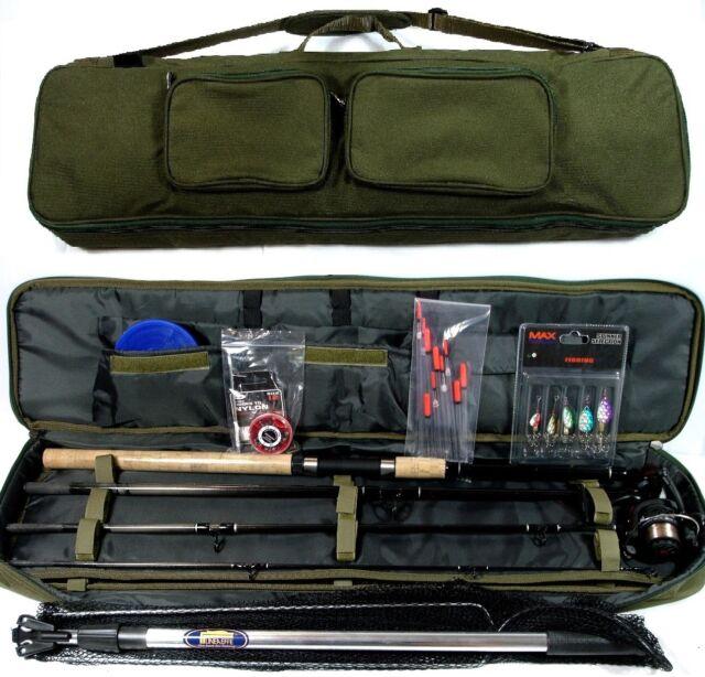 Spinning Fishing Kit  Rod ,Reel , Floats , Shot ,Spinners,Net, Hooks Bag