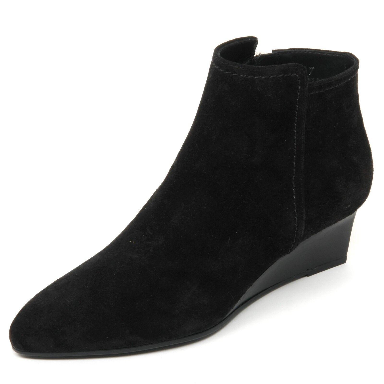 B9054 tronchetto donna TOD'S gomma T50 woman scarpa nero shoe boot woman T50 fd6815