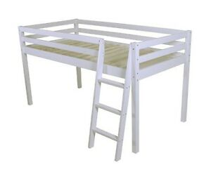 Image Is Loading SHORTY Mid Sleeper Cabin Bed Loft Bunk White