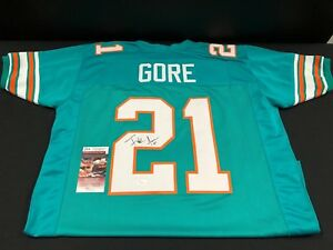 another chance 0fa49 3d156 Details about FRANK GORE MIAMI DOLPHINS SIGNED CUSTOM THROWBACK JERSEY JSA  COA WPP188536 HOF?