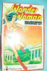Vintage 1976 Wonder Woman Colorforms Set - Complete & Ex. Condition