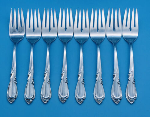 Details about  /Qty 4 International Silver RHAPSODY STERLING Salad Forks 176g